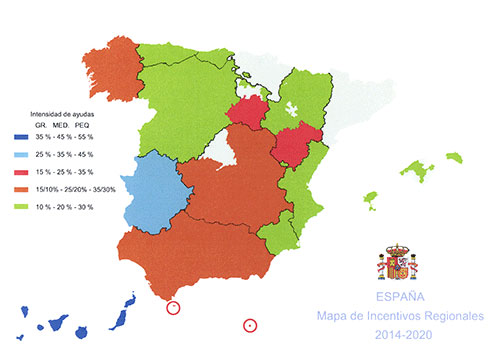 Incentivos económicos regionales en Zaragoza y Lleida